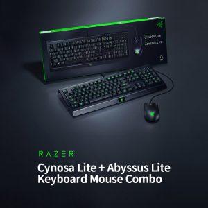 باندل بازی کیبورد ریزر مدل CYNOSA LITE و ماوس ریزر مدل ABYSSUS LITE